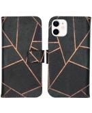 Design Softcase Book Case voor de iPhone 12 Mini - Black Graphic