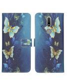 Design Softcase Book Case voor de Nokia 2.4 - Vlinders