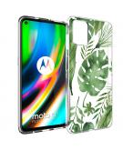 Design voor de Motorola Moto G9 Plus hoesje - Bladeren - Groen