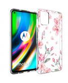 Design voor de Motorola Moto G9 Plus hoesje - Bloem - Roze