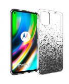 Design voor de Motorola Moto G9 Plus hoesje - Spetters - Zwart