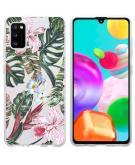 Design voor de Samsung Galaxy A41 hoesje - Jungle - Groen / Roze