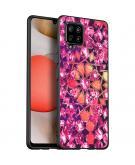 Design voor de Samsung Galaxy A42 hoesje - Grafisch - Roze Bling