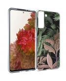 Design voor de Samsung Galaxy S21 hoesje - Jungle - Groen / Roze