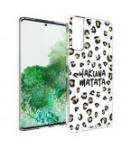 Design voor de Samsung Galaxy S21 Plus hoesje - Luipaard - Bruin / Zwart