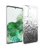Design voor de Samsung Galaxy S21 Plus hoesje - Spetters - Zwart