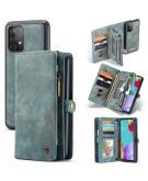 Luxe Lederen 2 in 1 Portemonnee Booktype Samsung Galaxy A52 (5G) / A52 (4G) - Groen