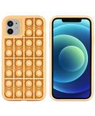 Pop It Fidget Toy - Pop It hoesje voor de iPhone 12 (Pro) - Goud