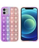 Pop It Fidget Toy - Pop It hoesje voor de iPhone 12 (Pro) - Multicolor