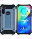 Rugged Xtreme Backcover voor de Motorola Moto G8 Power - Donkerblauw