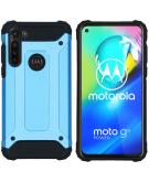 Rugged Xtreme Backcover voor de Motorola Moto G8 Power - Lichtblauw