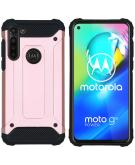 Rugged Xtreme Backcover voor de Motorola Moto G8 Power - Rosé Goud