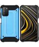 Rugged Xtreme Backcover voor de Xiaomi Poco M3 - Lichtblauw