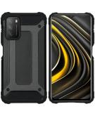 Rugged Xtreme Backcover voor de Xiaomi Poco M3 - Zwart